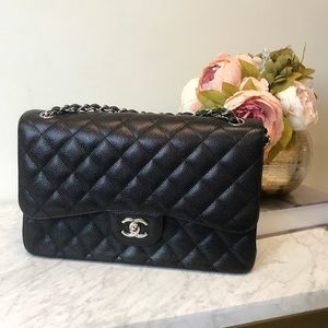 4ca88a4379cc62 Chanel Caviar Classic Jumbo Double Flap Bag